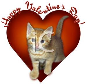 "Kitty Says, ""Happy Valentine's Day"""