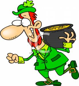 Leprechaun with a Pot of Gold