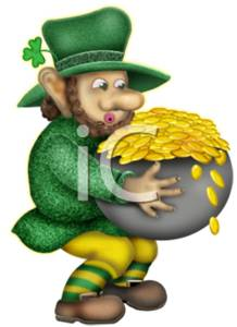 Leprechaun with Gold Pieces