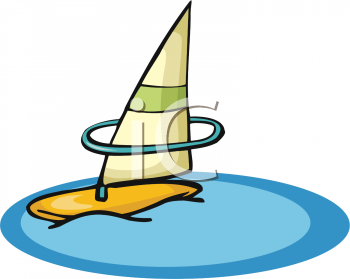 Clipart Illustration Of A Windsurfers Windsurfing Board
