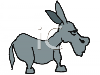 clipart of a mean looking donkey or jackass rh clipartguide com