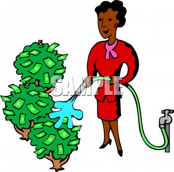 cartoon clipart picture of an african american woman watering her rh clipartguide com Garden Clip Art Grow Your Potential