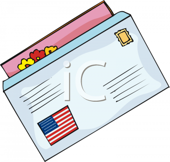 clipart picture of a letter with an american flag sticker on the outside rh clipartguide com clipart letterhead clipart letter c