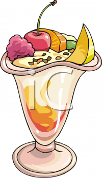 Fruit and Ice Cream Sundae