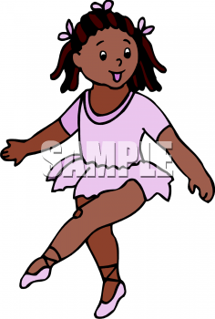 Clipart Picture Of A Little African American Girl Dancing Ballet