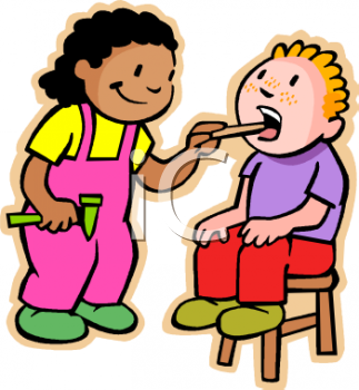 Kids Playing Doctor Clip Art - Royalty Free Clipart Illustration