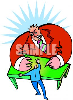 Worker Being Fired by Boss Clip Art
