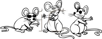 Three Blind Mice Clipart