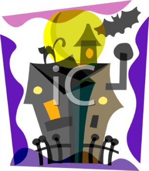 Spooky Haunted House Clip Art
