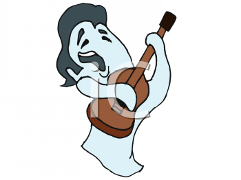 Ghost of Elvis Playing His Guitar