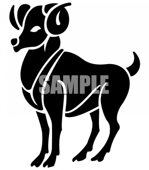 Zodiac Silhouette of Aries