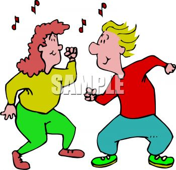Man and Woman Dancing Clip Art - Royalty Free Clipart Illustration