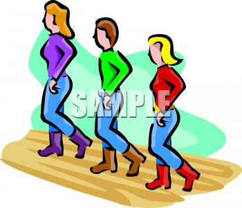 people line dancing clip art royalty free clipart illustration rh clipartguide com