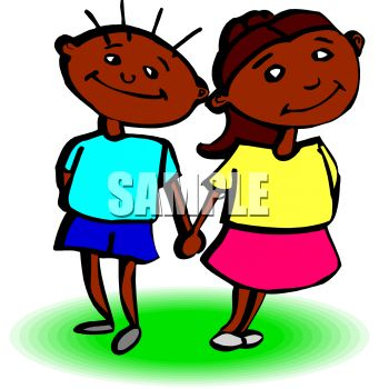 Girl   Holding Hands on African American Boy And Girl Holding Hands Clip Art Royalty Free