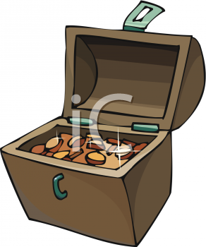 Chest Full of Gold Coins Clip Art
