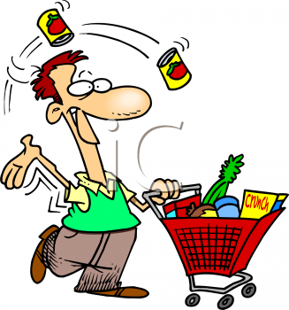 Dad Grocery Shopping Clip Art