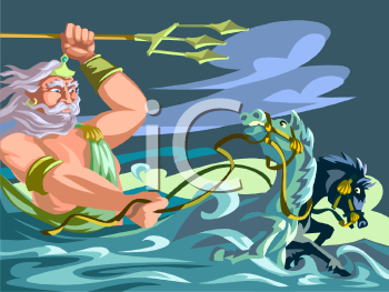 Neptune King of the Sea Clip Art