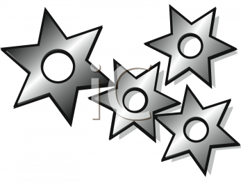 Japanese Throwing Stars Clipart