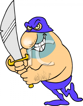 Executioner Who Enjoys His Work Clip Art