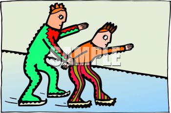 People Ice Skating Clip Art