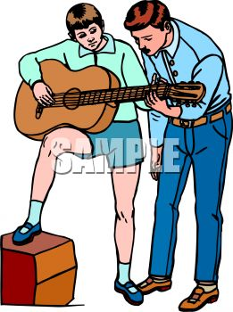 learning to play guitar with music teacher clip art royalty free rh clipartguide com  music clipart for teachers