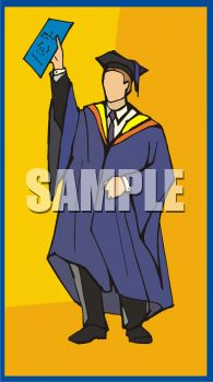 Male Graduate With Diploma Clipart
