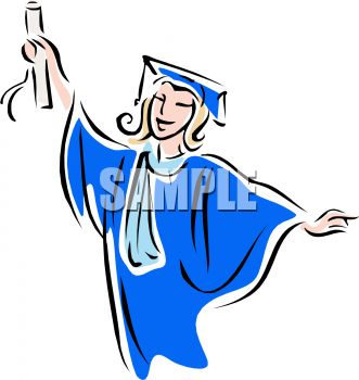 Young Female College Graduate Clip Art