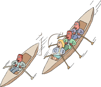 Clipart Auto Racing Free Clip  on Canoe Race Clip Art   Royalty Free Clipart Illustration