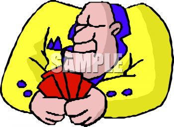 Poker Player Clip Art