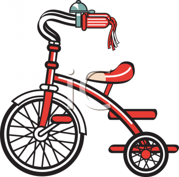 Kid's Red Tricycle Clip Art