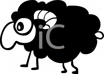Cartoon Black Sheep Clip Art