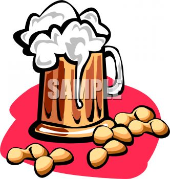 Peanuts and Beer Clipart