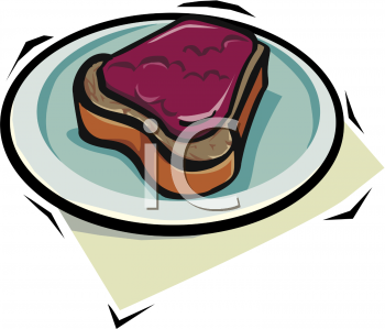Peanut Butter and Jam on Bread Clip Art
