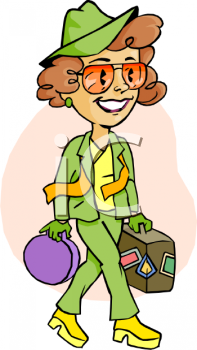 traveling woman holding her suitcase royalty free clip art picture rh clipartguide com traveling clip art free traveling clipart black and white