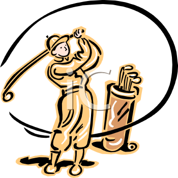 "This ""vintage man playing golf clip art"" clipart image is available through"