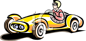 Vintage Race Car Clip Art