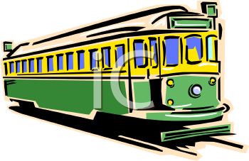 Vintage Passenger Train Clip Art