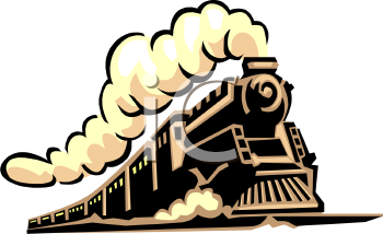 Vintage Steam Train Clip Art