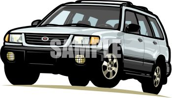 compact sport utility vehicle royalty free clip art picture. Black Bedroom Furniture Sets. Home Design Ideas