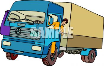 delivery truck - royalty free clip art picture