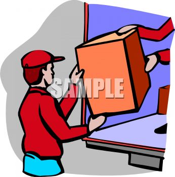 "This ""men loading a truck"" clip art image is available as part of a low"