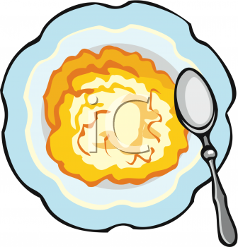 Bowl of Hot Cereal Clip Art