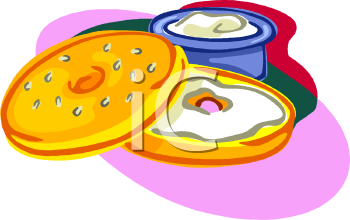 bagel with cream cheese clipart royalty free clip art illustration rh clipartguide com bagel breakfast clip art Funny Bagel Clip Art