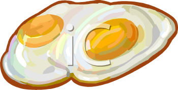 Realistic Fried Eggs Clip Art
