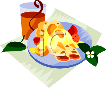 Fruit Crepes For Breakfast Clip Art Royalty Free Clipart Illustration