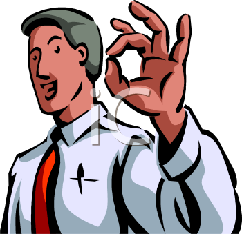 "Businessman Giving the ""A-Ok"" Sign"