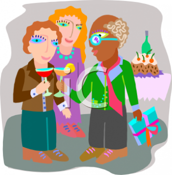 "This ""people toasting at a birthday party"" clipart image can be licensed as"