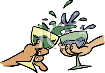 Glasses Toasting Clipart