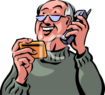 old man paying over the phone with a credit card clip art rh clipartguide com  old person clipart free