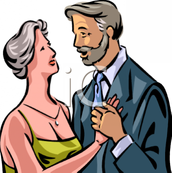 Elderly Couple Dancing Clip Art